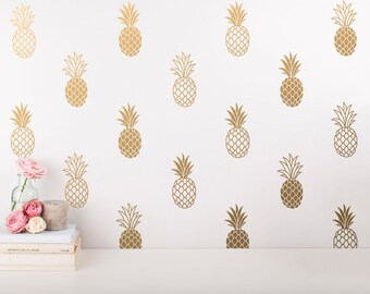 Pineapple Wall Decals - Pineapple Decals, Pineapple Decor, Pineapple Gift, Gift for Her, Wall Decor, Wall Stickers, Pineapple Wall Art