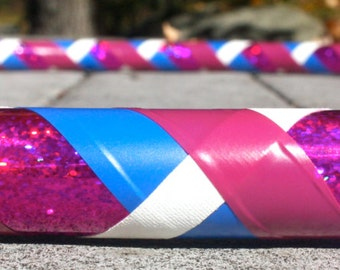 Collapsible Hula Hoop- Very Berry- Pink/magenta, blue, and white