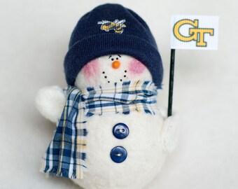 Georgia Tech Snowman Ornament