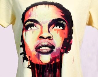 Gorgeous Lauryn Hill  gray t shirt,white t shirts,yellow t shirt,gifts, Lauryn Hill Tee, Tees,shirt Lauryn Hill t shirt, gifts