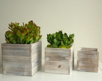 wood box succulent planter pot vases wooden boxes rustic shabby chic wedding outdoors garden party flower box home living decor housewares