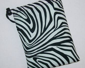 """Pipe Pouch, Pipe Bag, Pipe Case, Padded Pouch, Trippy Lines Bag, Black White Bag, Smoke Accessory, Padded Bag, Stoner Gifts - 7"""" DRAWSTRING"""