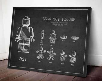 1979 Lego Patent print, Lego Poster, Lego Print, Lego Decor, Wall Art, Home Decor, Gift Idea, GT06C