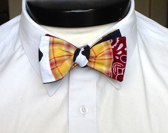 The Luxo - Our Pixar Inspired bowtie in Woody colors