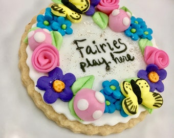 Fairy Garden Cupcake / cookie toppers