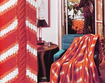 Crochet Knitting Cable Blanket Pattern - PDF Instant Download - Afghan Crochet Blanket - Lap Blanket - Digital Pattern - Knitting & Crochet