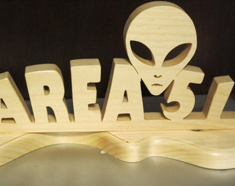 Area 51 Wood Sign