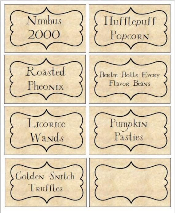 Harry Potter Inspired Food Labels