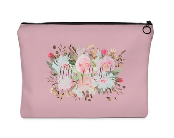 mother of the bride floral cosmetic bag - cosmetic bags - bridal party bags set - make up bags - mother of the bride gifts - mother of bride