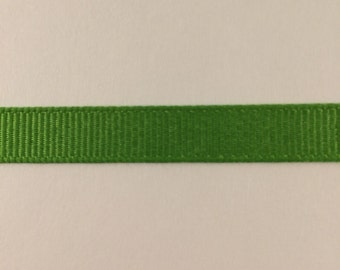 3/8 inch apple green grosgrain ribbon offray