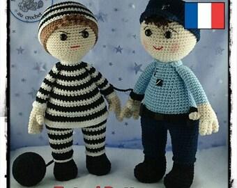 Pattern / Tuto : Elliott et Tristan jouent au gendarme et au voleur