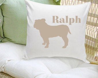 Personalized Pet Pillow - Personalized Dog Silhouette Decorative Pillow - Personalized Dog Pillow - GC1228