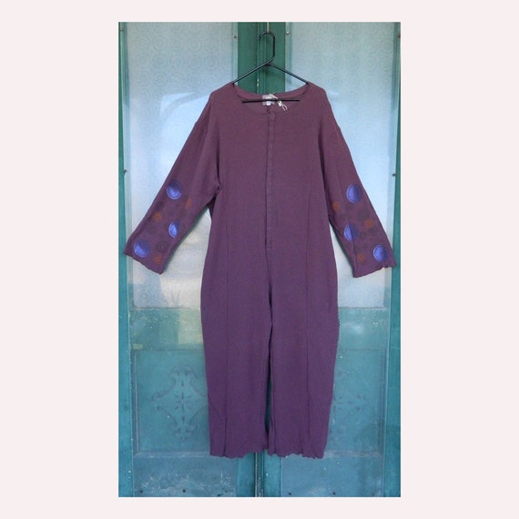 Blue Fish Artwear 1992 Silly Suit -0- Murple Purple Thermal Cotton NWT
