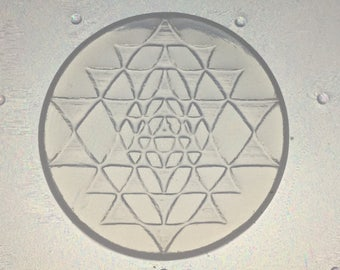 Small Sri Yantra Flexible Resin Mold Sacred Geometry 35mm Diameter
