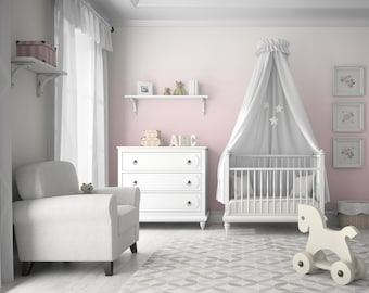 Blush Ombre Removable Peel 'n Stick or Traditional Prepasted Wallpaper