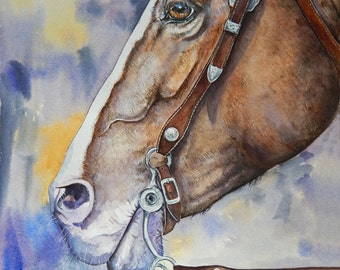 Western horse- original watercolor painting