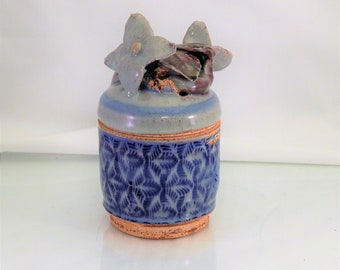 Dogwood Flower Covered Jar