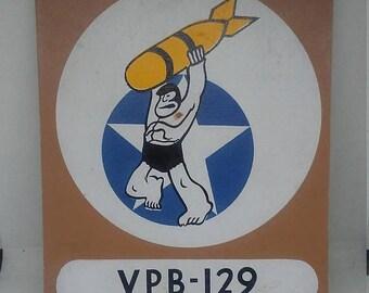 Spring Sale Vintage VPB 129 Squadron Teaching Aid Display Patch