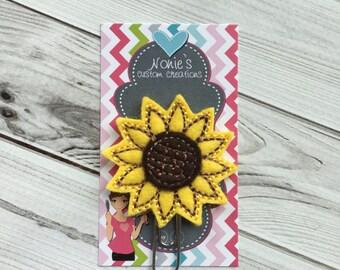 Sunflower Paper Clip - Sunflower Paperclip - Planner Paperclip - Planner Accessories - Flower Paper Clip - Sunflower Feltie