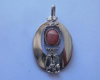 Art Deco silver hand made pendant