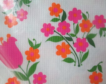 Vintage Paper Tablecloth, Never Used Floral Tablecloth by Hallmark