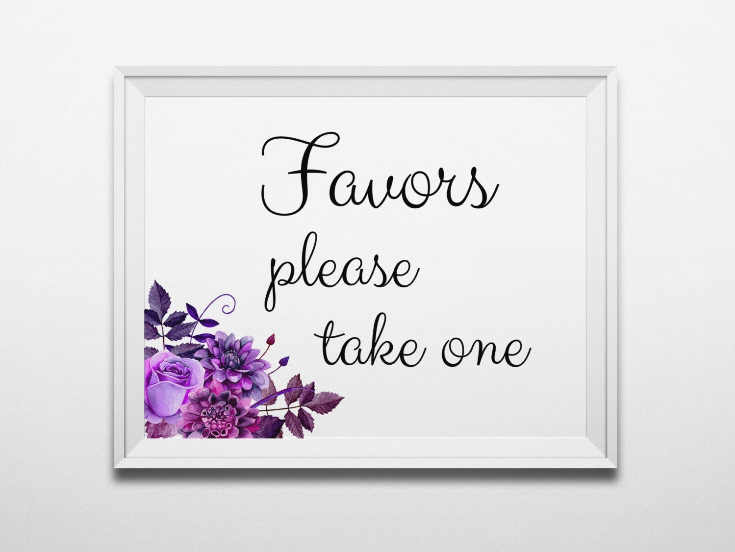Favors sign Boho wedding Favors please take one Wedding sign