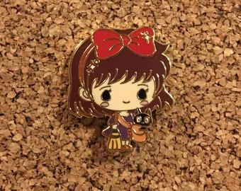 Kiki & Jiji Kiki's Delivery Service Chibi Studio Ghibli Miyazaki Enamel Pin