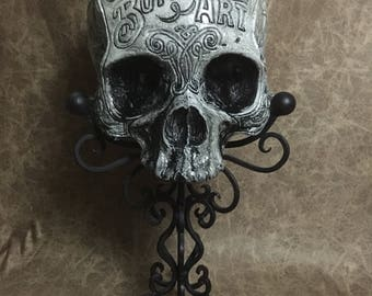 "SPECIAL - PREORDER - The Butchering Art tribute skull for author Lindsey Fitzharris for her beat selling book ""The Butchering Art""."