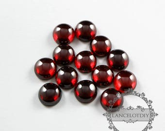 10pcs 10mm round wine red high quality artificial zircon cabochon DIY supplies 4110137
