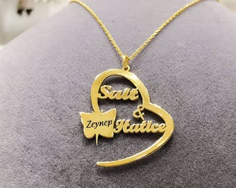 Mother Necklace with Names • Personalized Family Necklaces • Mother in Law Gifts For Christmas • Anniversary Gifts • Gift For Mother