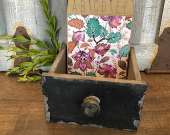 Address Box, Wedding Guest Book, Guest Book Alternative, Address Cards, Boho, Purple, Orange, Turqiouse