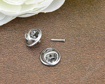 30 set of 11mm stainless steel brooch pin clasp,stainless steel needles