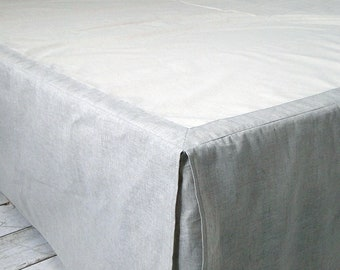 Linen Dust Bed Skirt. Softened. Twin Xl Full Double Queen King. USA Australian Sizes. All colours. Natural Bedding. Comforter. Eco friendly.