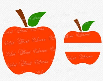 SVG Apple svg monogram apple School SVG Svg File Cricut Cut Files Silhouette Teacher SVG Cutting Files Clipart Vinyl Cutters eps png dxf