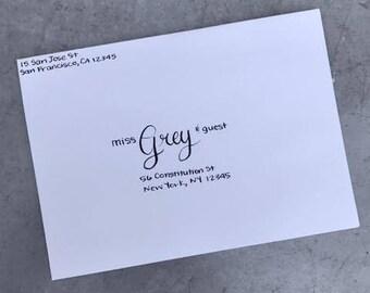 Handwritten Calligraphy Envelope