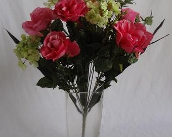 Rose/Hydrangea Bush X 18 (Pack of 6)