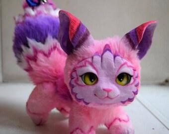 Crazy pink Kitten