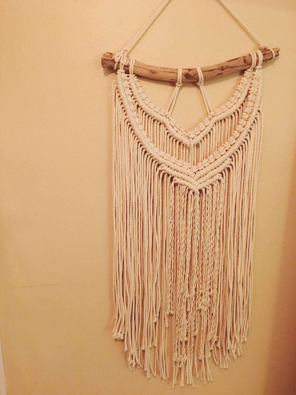 Wall Hanging Macrame with Driftwood