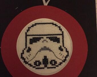 Storm Trooper Cross Stitch Ornament