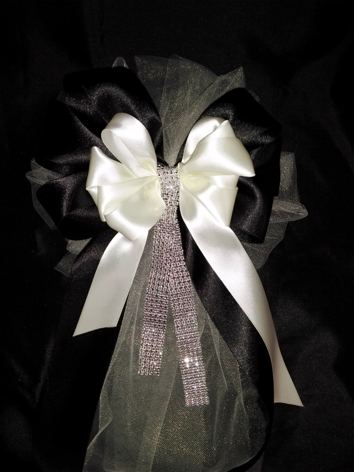 Wedding Pew Bows Any Color Or Ivory And Black Ribbon Bows With