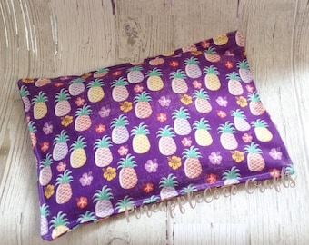 Pineapple heating bag, microwaveable heat pack, pineapples, hot cold pack, tropical, cornbag , sore muscles, neck pain, migraine, fun gift