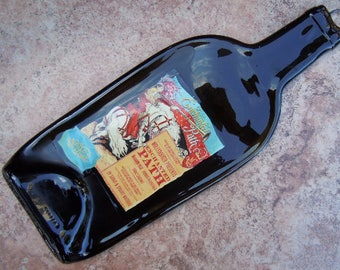 Free shipping MollyDooker Enchanted Path Slump Melted Flattened Flat Wine Bottle Cheese Tray Spoon Rest Glass Eco Gift