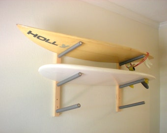 Surfboard Wall Rack Mount -- Holds 3 Boards