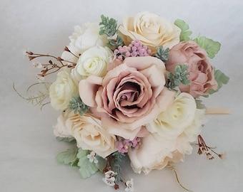 Blush pink silk bridal wedding bouquet-wedding bouquet-Bridal bouquet-Bridesmaid bouquet