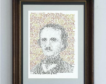 Edgar Allen Poe, in his own words - a portrait of the great American writer and his short story Shadow.