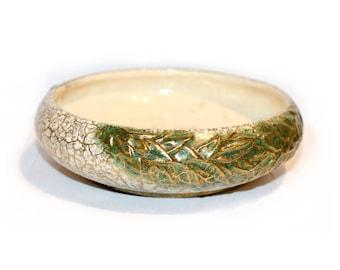 McCoy Pottery Grecian Gold Bowl by BigMuddyVintageShop