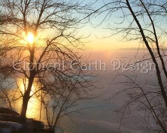 Winter Scene, Sunrise, Instant Download, 11x14, Fine Art Digital Photo, Digital Printable, Photography