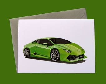Lamborghini Huracan A6 Greeting Card