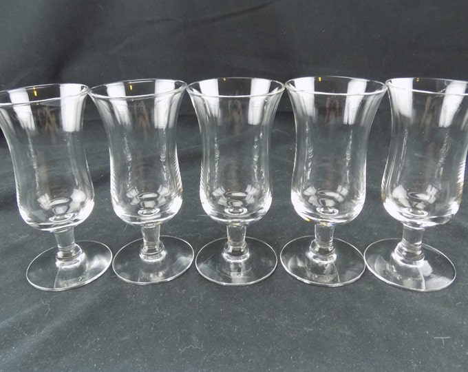 5 Crystal Glass Handmade Liqueur Glasses, Barware Coupes, Stemware