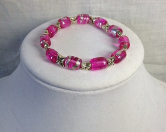 PRICE REDUCED!! Bracelet - Pink and Silver
